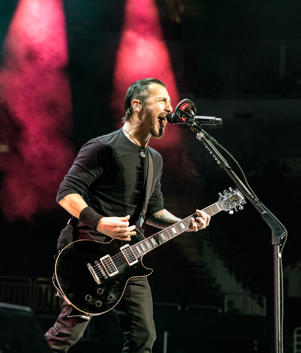 Sully Erna of Godsmack performs at Fiserv Forum in Milwaukee, WI on 04/20/2019