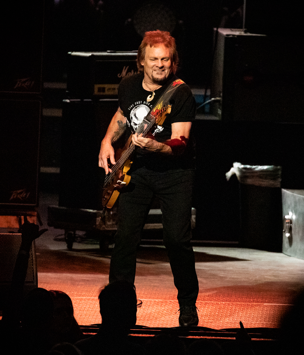 Michael Anthony of The Circle performs at Hollywood Casino Amphitheatre in Tinley Park, IL on 06/07/2019.