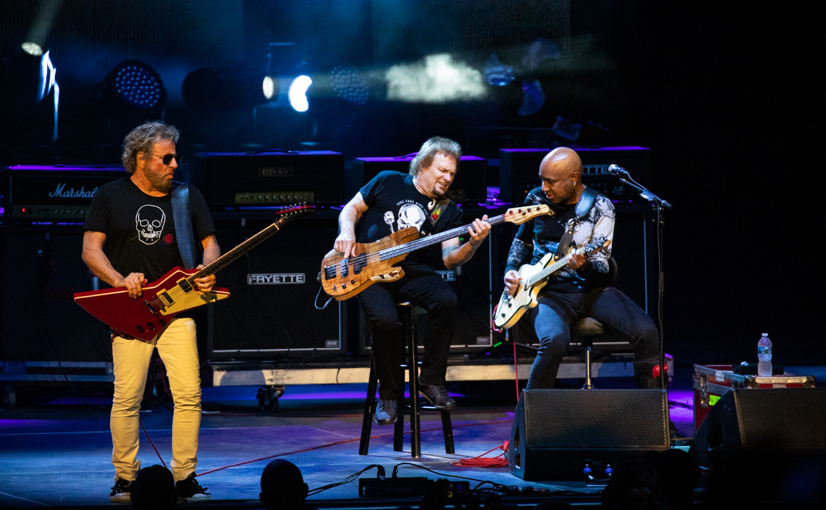 Sammy Hagar, Michael Anthony, and Vic Johnson of The Circle perform at Hollywood Casino Amphitheatre in Tinley Park, IL on 06/07/2019.