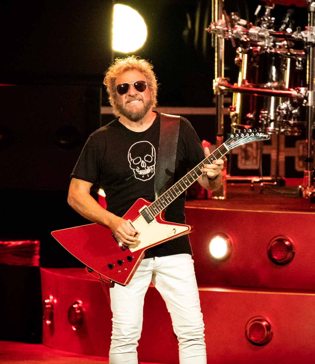 Sammy Hagar of The Circle performs at Hollywood Casino Amphitheatre in Tinley Park, IL on 06/07/2019.