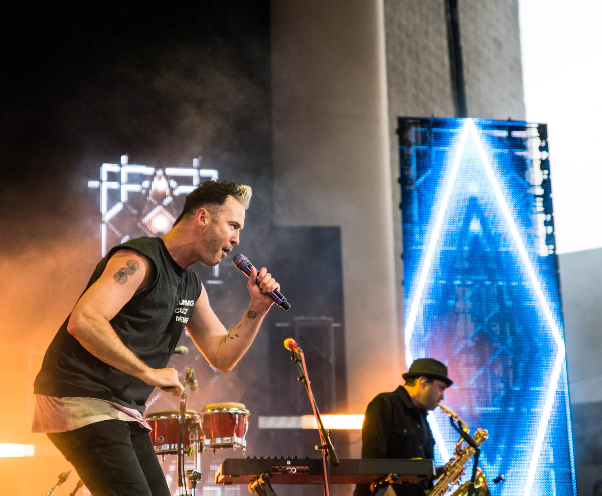 Fitz and the Tantrums really brought the heat despite the weather co-headlining  Sunday evening at Ruoff Music Center in Noblesville, IN. || 06.16.19 ||