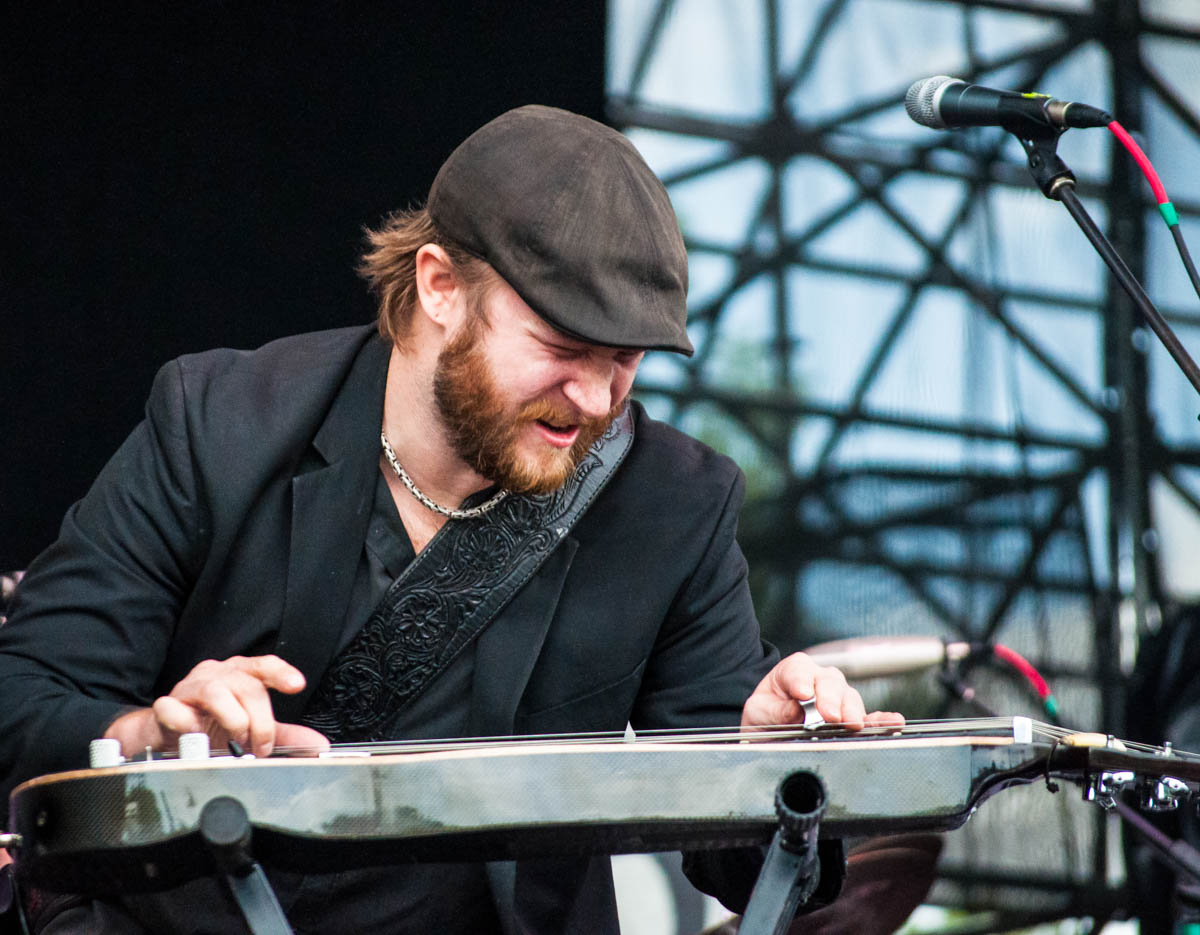 Seth Freeman, plays lap steel for KDTU ||  The Lawn at White River State Park || Indianapolis, IN || 06/23/19