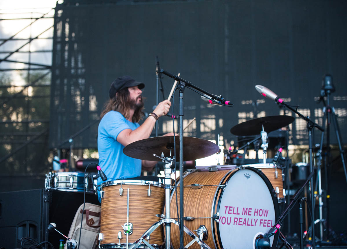 Dave Mudie plays drums for Courtney Barnett |  The Lawn at White River State Park | Indianapolis, IN | 06/26/19