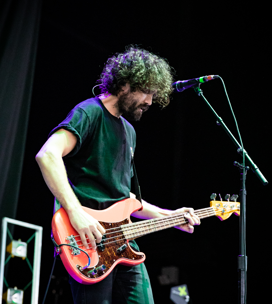 Jim Cratchley of Dinosaur Pile-Up performs at Hollywood Casino Amphitheatre in Tinley Park, IL on 07/14/2019.