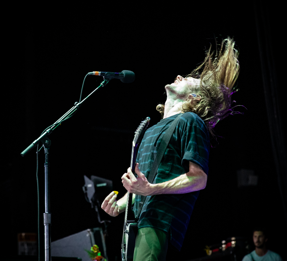 Matt Bigland of Dinosaur Pile-Up performs at Hollywood Casino Amphitheatre in Tinley Park, IL on 07/14/2019.