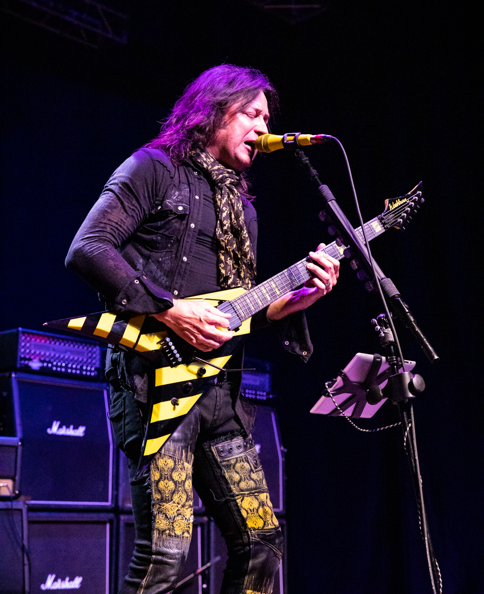 Michael Sweet of Stryper performs at the Arcada Theatre in St. Charles, IL on 07/18/2019.