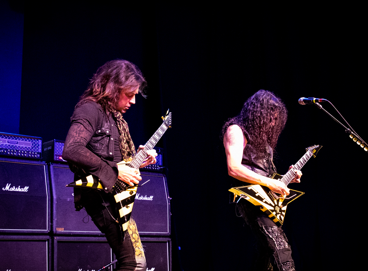 Michael Sweet and Oz Fox of Stryper perform at the Arcada Theatre in St. Charles, IL on 07/18/2019.