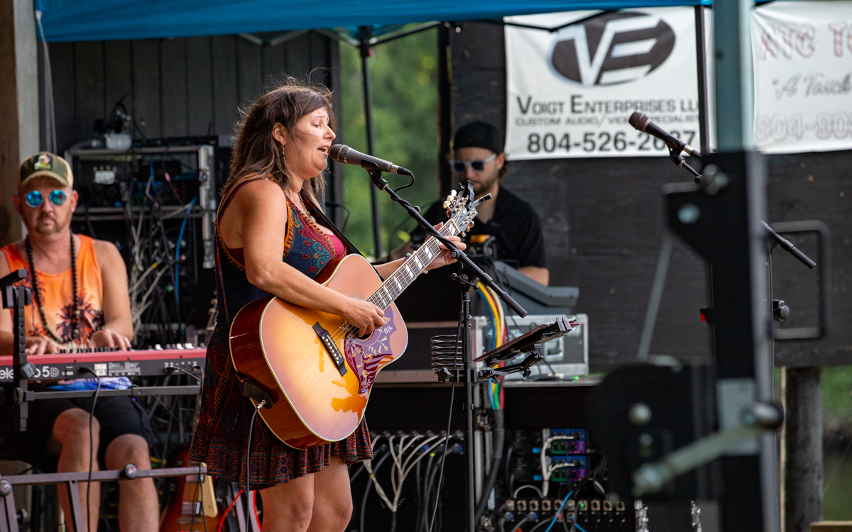 The Susan DePhillip Band  performing in the Women Who Rock Festival at Harbor Blast Concert Series in Prince George, VA on September 12, 2020. Photo Credit: © Dave Pearson 2020