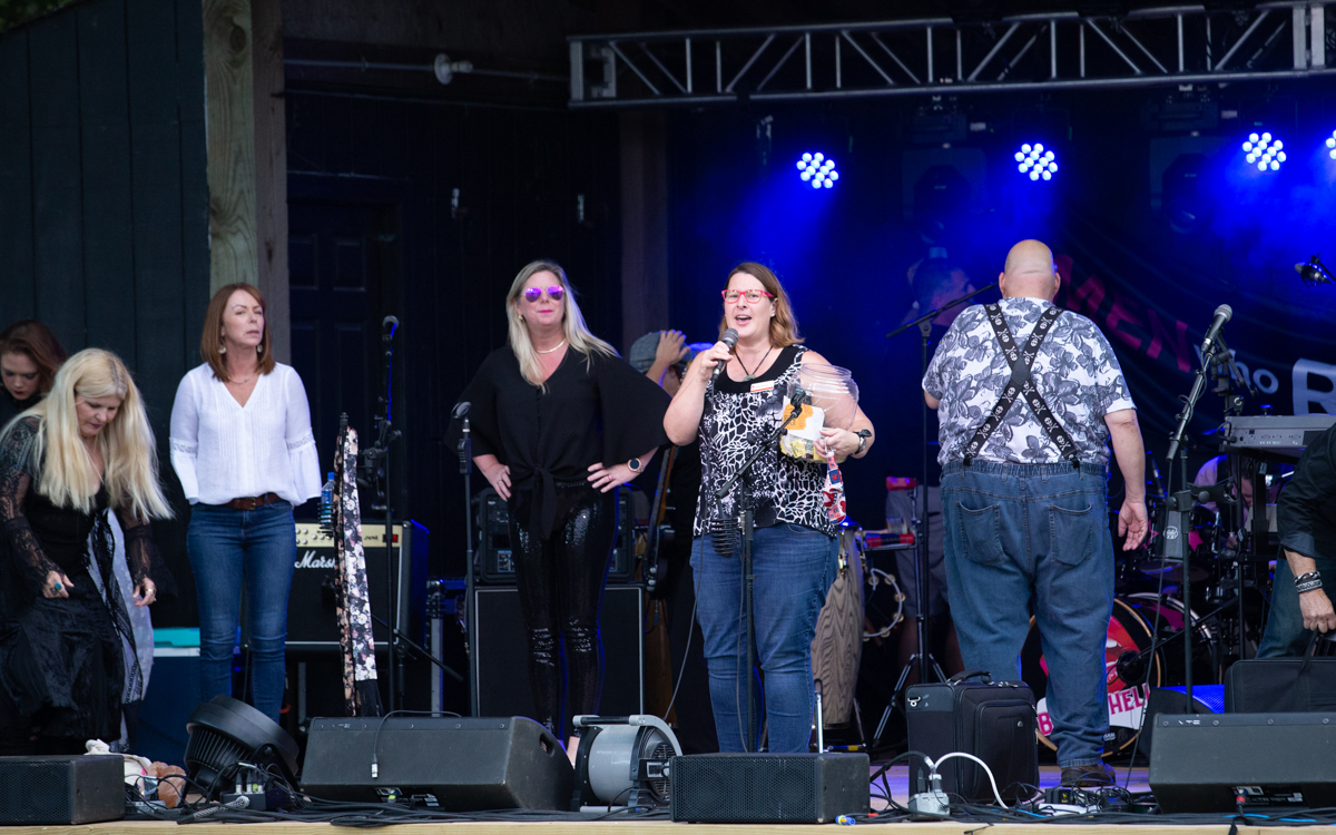 Providing information on The James House at  the Women Who Rock Festival at Harbor Blast Concert Series in Prince George, VA on September 12, 2020. Photo Credit: © Dave Pearson 2020