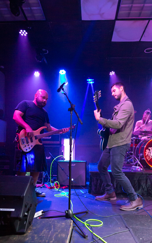 The Naked Abstract  performing in the First Annual Rocking For Recovery at Another Round Bar and Grill  in Richmond, VA on September 26, 2020. Photo Credit: © Dave Pearson 2020