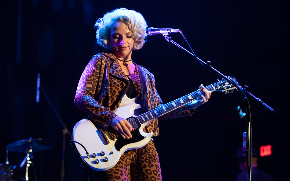 Samantha Fish and her band performing at the Beacon Theater in Hopewell, VA on April 14, 2021. Photo Credit: © Dave Pearson 2021-002