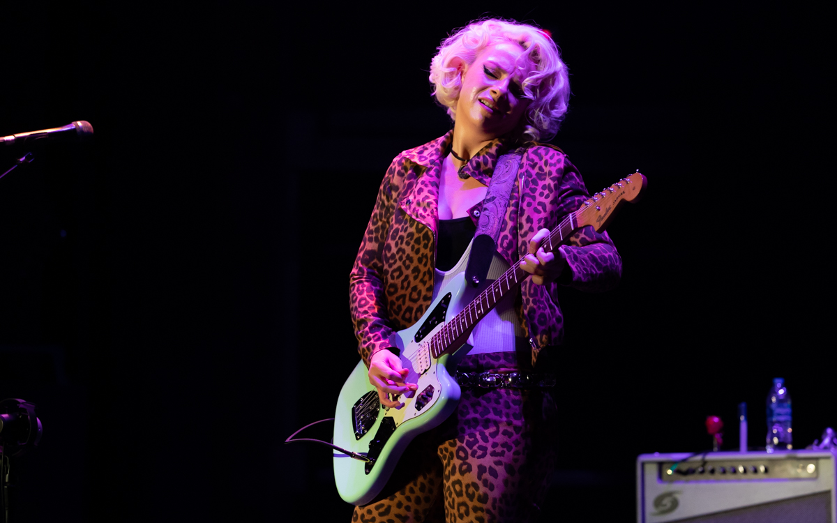 Samantha Fish and her band performing at the Beacon Theater in Hopewell, VA on April 14, 2021. Photo Credit: © Dave Pearson 2021-020