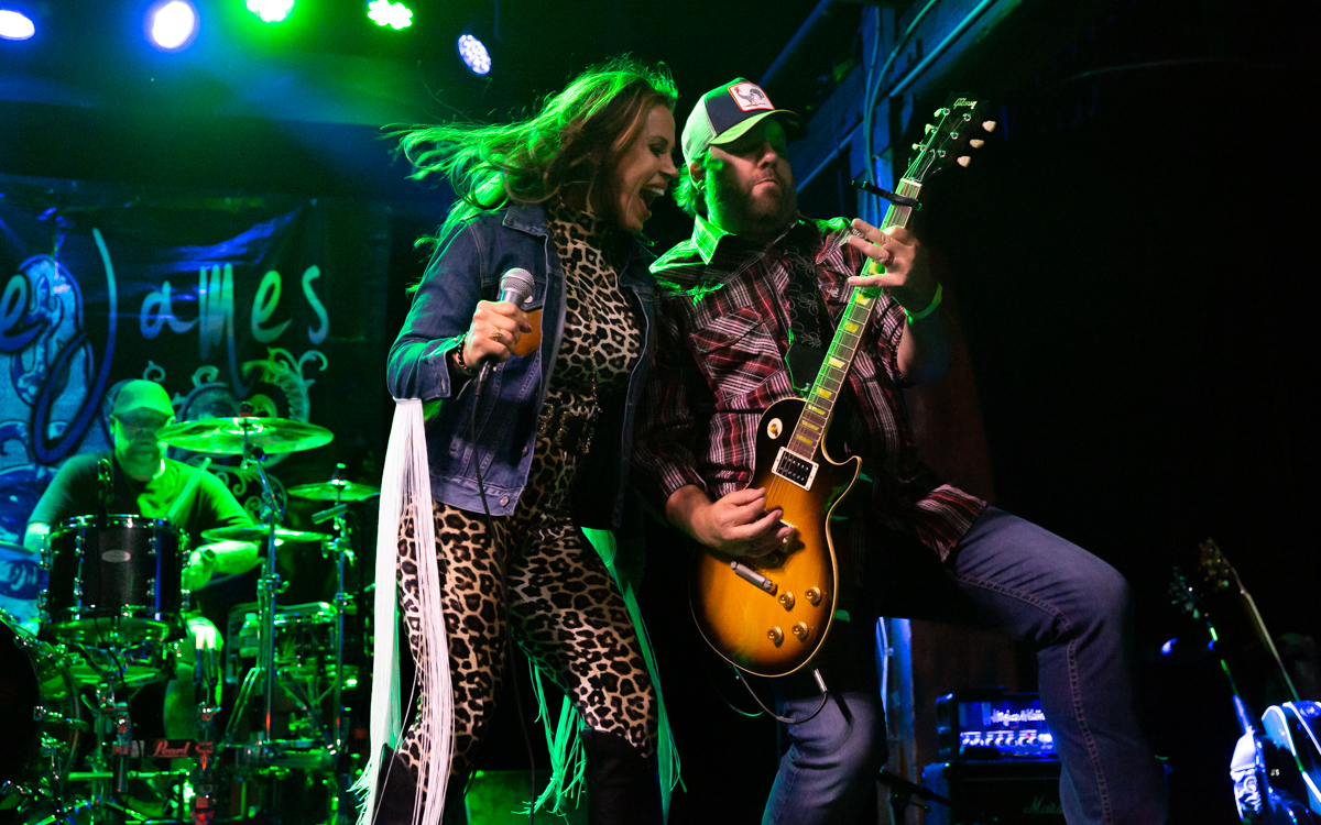 Mickie James and her band performing at The Canal Club in Richmond, VA on July 10, 2021. Photo Credit: © Dave Pearson 2021-003
