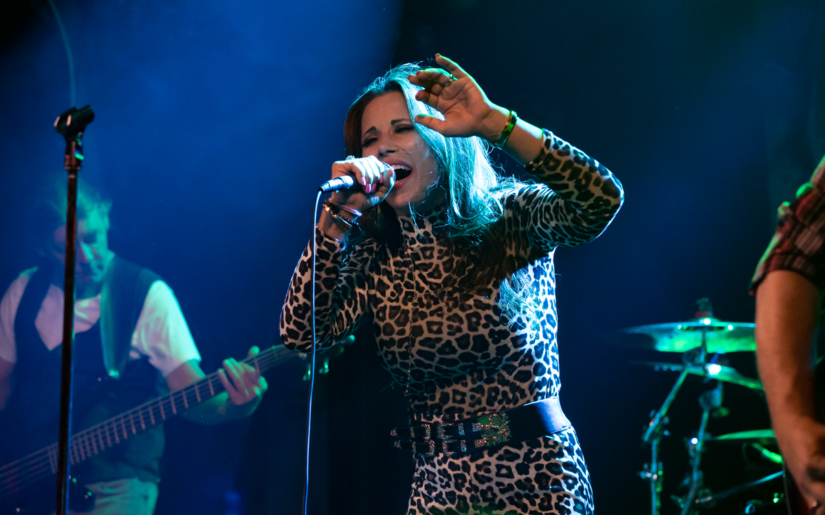 Mickie James and her band performing at The Canal Club in Richmond, VA on July 10, 2021. Photo Credit: © Dave Pearson 2021