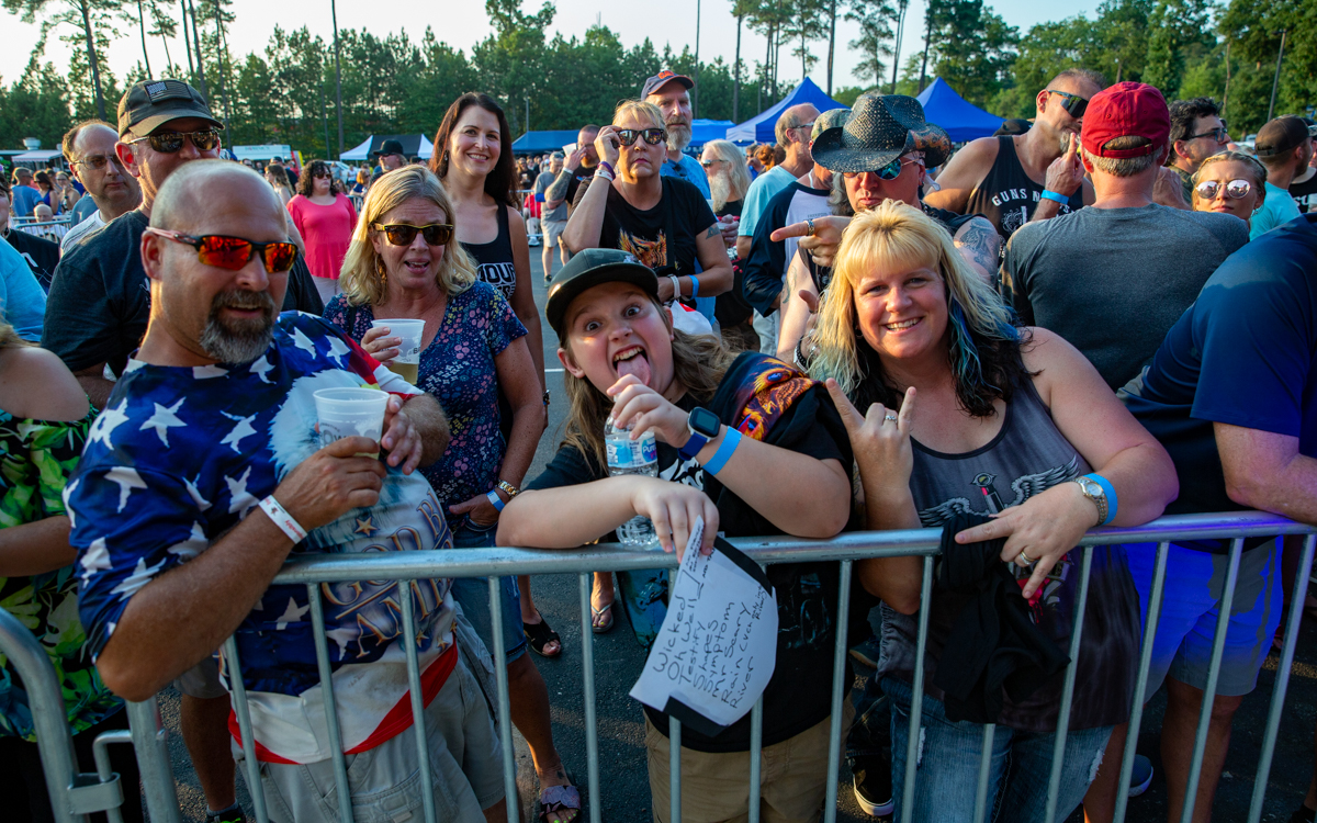 Fans getting ready for Lita Ford at Richmond Harley Davidson in Ashland, VA on July 16, 2021. Photo Credit: © Dave Pearson 2021