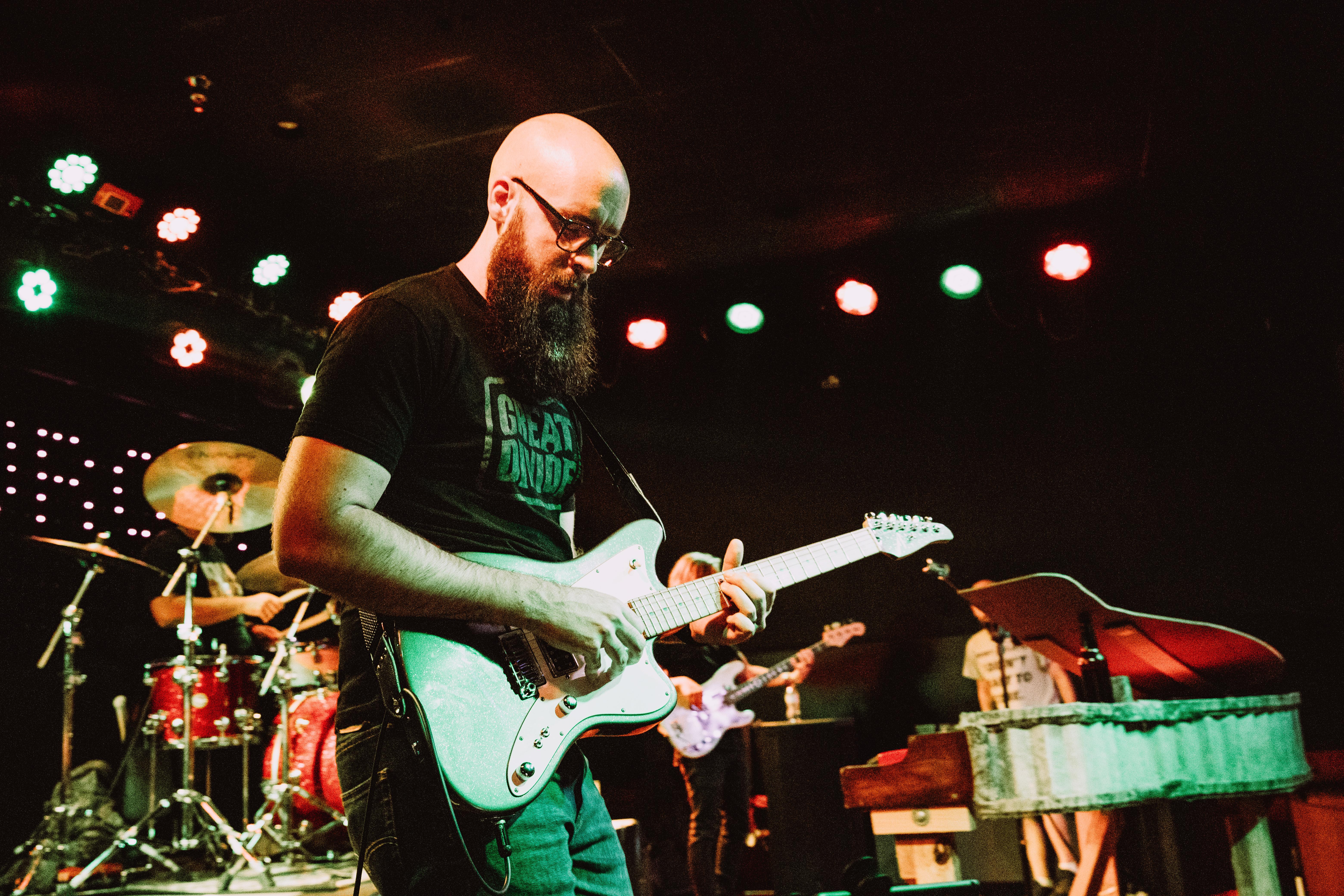 Eric Burgett and his band at Hard Times Café  in Fredericksburg, VA on 8-06-2021. Photos © Kelli Palotay