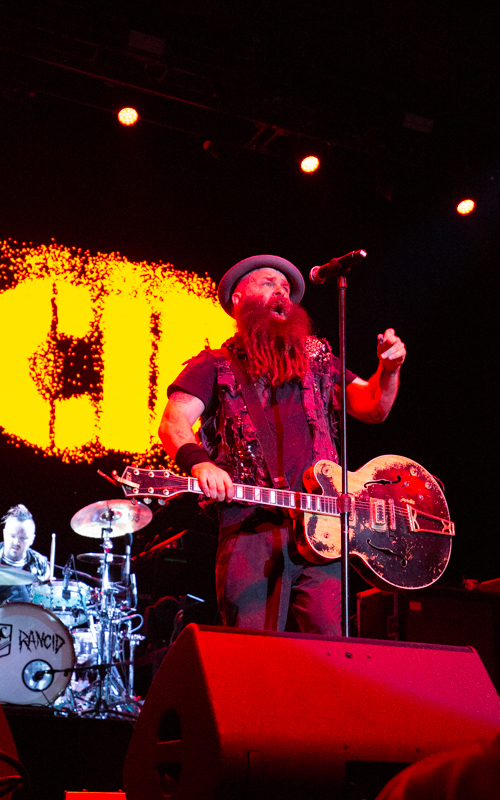Rancid performing at Virginia Credit Union Live in Richmond, VA on August 25th, 2021. Photo Credit: © Dave Pearson 2021