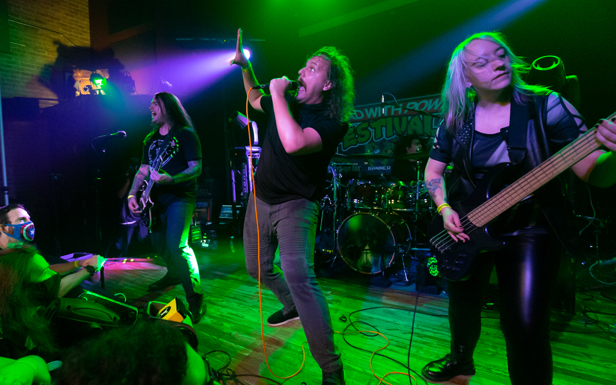 Dire Peril performing at Mad With Power IV in Madison, WI on August 28th, 2021. Photo Credit: © Dave Pearson 2021