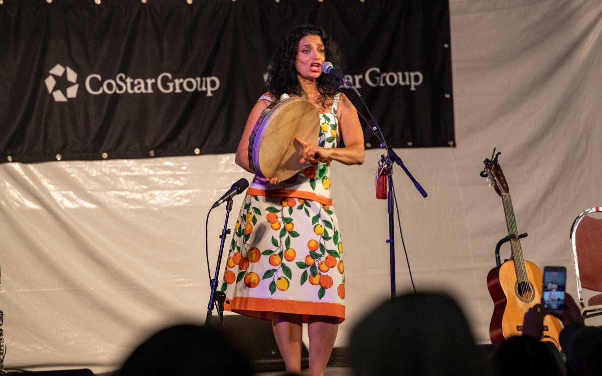 Rosa Tatuata performing at Richmond Folk Festival on October 8th, 2021. Photo Credit: © Dave Pearson 2021