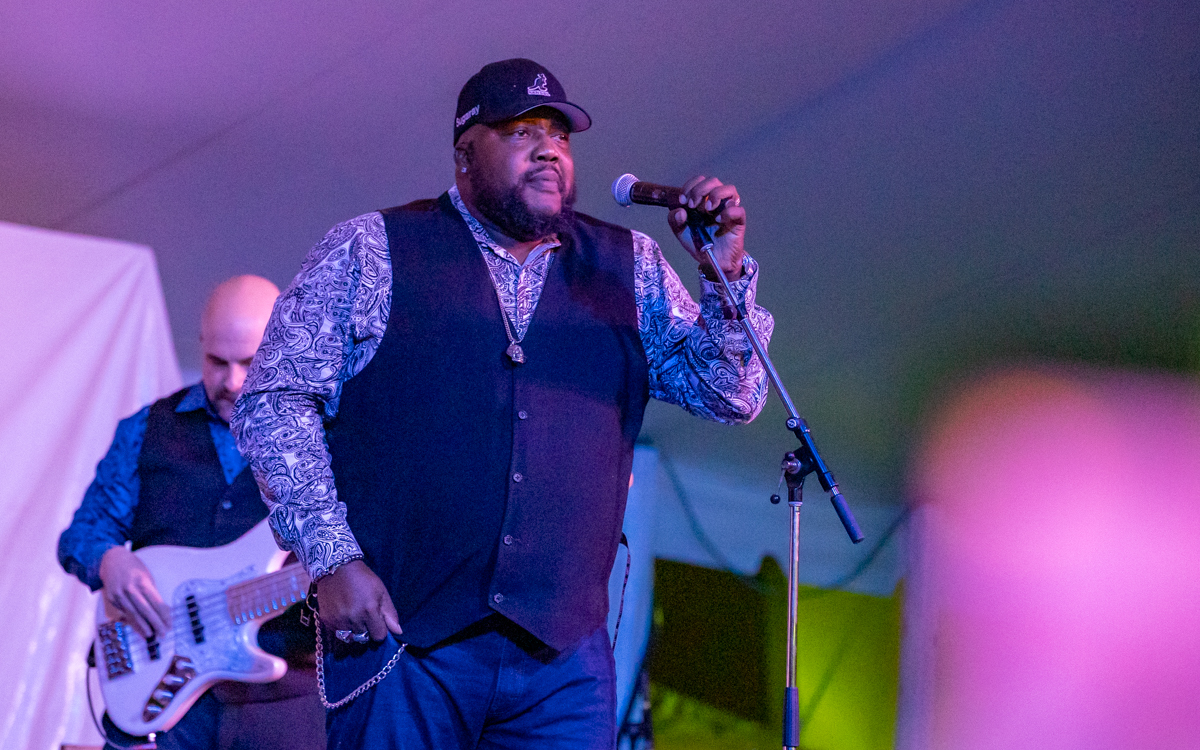 Sugaray Rayford  performing at Richmond Folk Festival on October 8th, 2021. Photo Credit: © Dave Pearson 2021